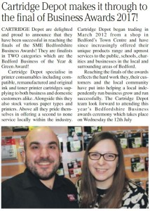 Article published in June 2017 edition of The Bedford Boro Bulletin (page 12)