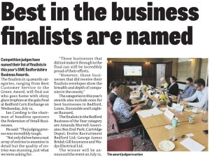 Article published in The Bedfordshire Times & Citizen -15/06/2017