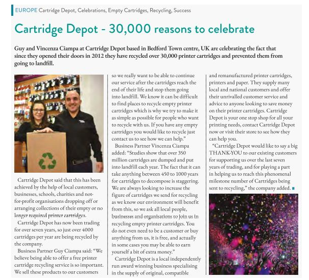 Article published in the January 2020 edition of The Recycler.